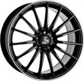 ultra wheels ua4 8x18 schwarz mit poliertem rand ultra. Black Bedroom Furniture Sets. Home Design Ideas